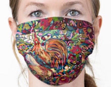 "Load image into Gallery viewer, NEW!! ""Red Rabbits Run"" Artisan Face Mask"