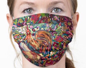 "NEW!! ""Red Rabbits Run"" Artisan Face Mask"