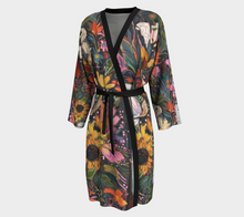 "Load image into Gallery viewer, ""The Stallion and The Cherry Tree"" Long Chiffon Duster Size S/M"