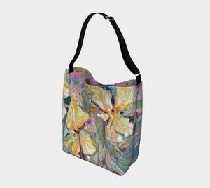 """Two Irises Botanical"" Neoprene Tote"