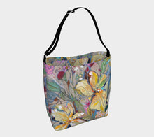 "Load image into Gallery viewer, ""Two Irises Botanical"" Neoprene Tote"