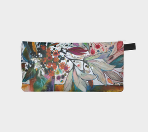 """Two White Lilies Botanical"" Trinket Purse"