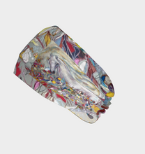 "Load image into Gallery viewer, ANIMAL LOVERS COLLECTION ""White Spirit Horse Botanical"" Headband"