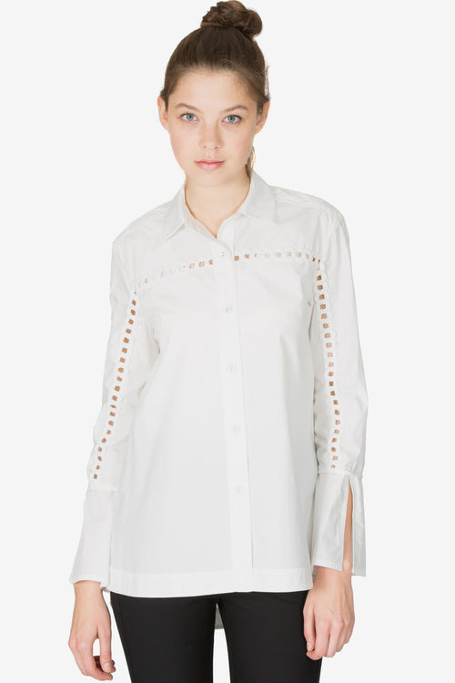 Bell Sleeve Button-Down Shirt