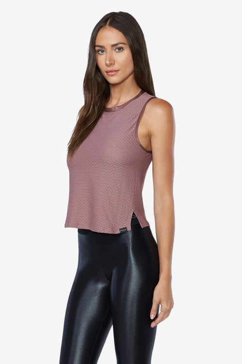 Crescent Crop Top - Marsala