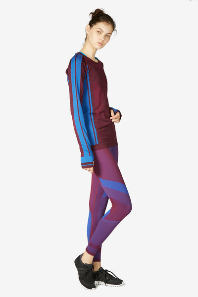 Vortex Leggings - Burgundy