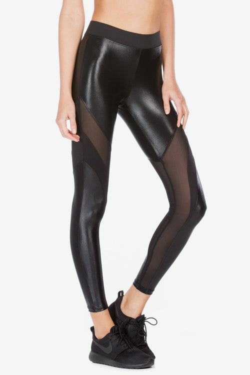 Frame High Rise Legging - Black/Black