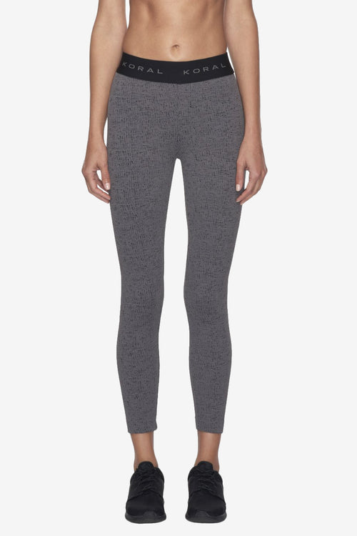 Knockout Cropped Legging - Steel/Black
