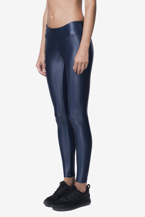 LUSTROUS LEGGING - MIDNIGHT BLUE
