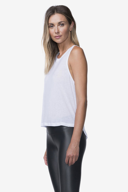 Muscle Tank - White