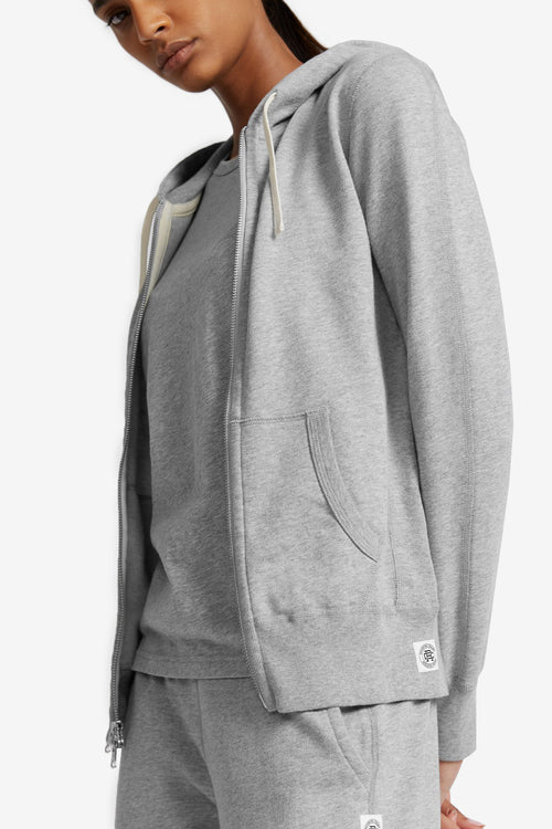 Full Zip Hoodie - Heather Grey