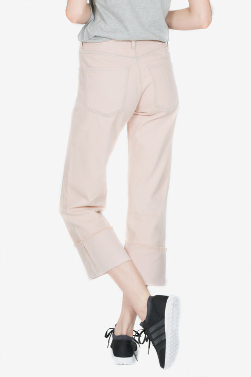 PARKER RELAXED CUFFED CROP - ROSE QUARTZ