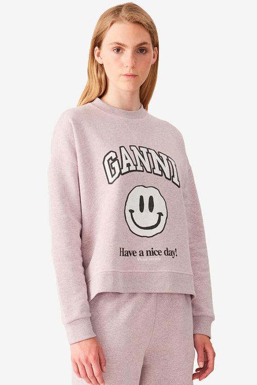 Dropped Shoulder Sweatshirt - Smiley