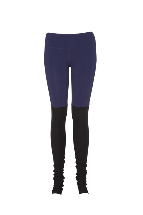 Goddess Legging - Rich Navy/Black