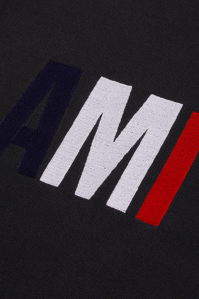 Ami Embroidery Sweatshirt - Black