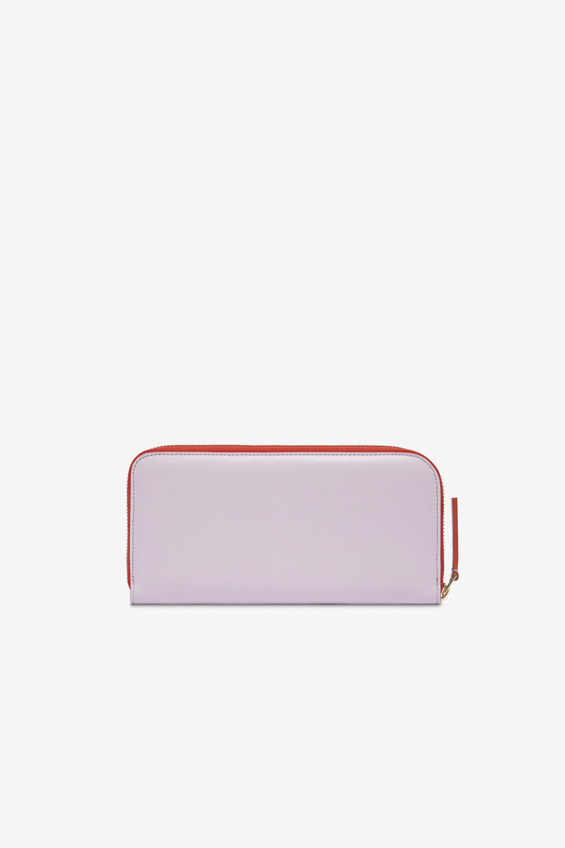 LARGE ZIP AROUND WALLET - LILAC