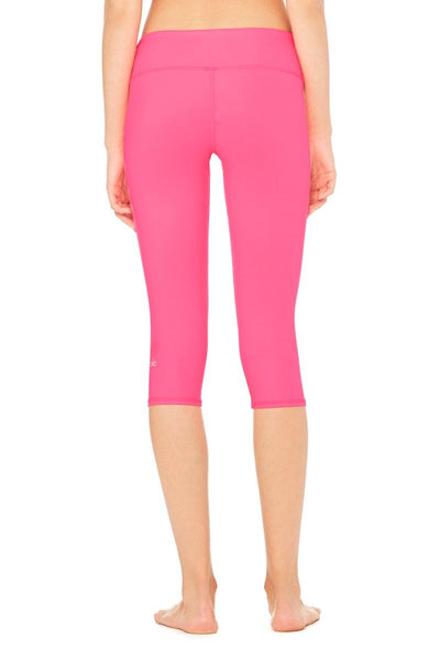 Airbrush Capri Legging - Hot Pink Glossy