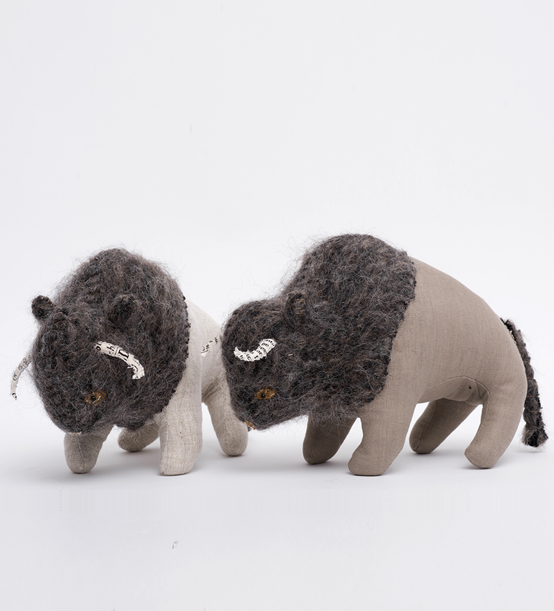 Bisons In Olive or light Gray