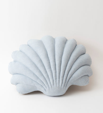 Shell Pillow ~ Light blue Linen ~