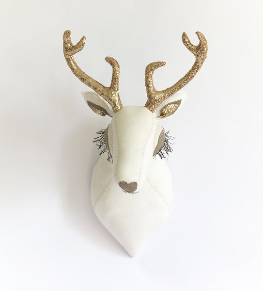 Deer Head with Gold Antlers