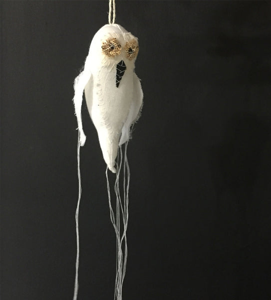 White Owl Ornament ~HOLIDAYS SPECIAL~