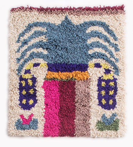 Date Palm Rug -Single, Blue Canopy