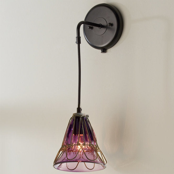 GLASS CAGE FLOWER SCONCE