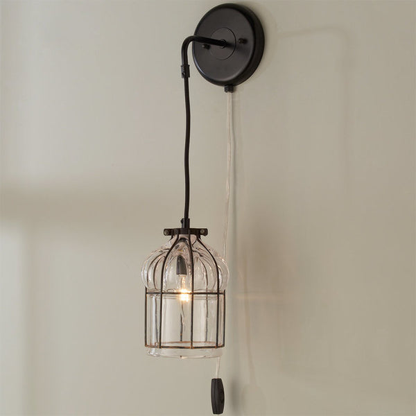 GLASS CAGE SCONCE
