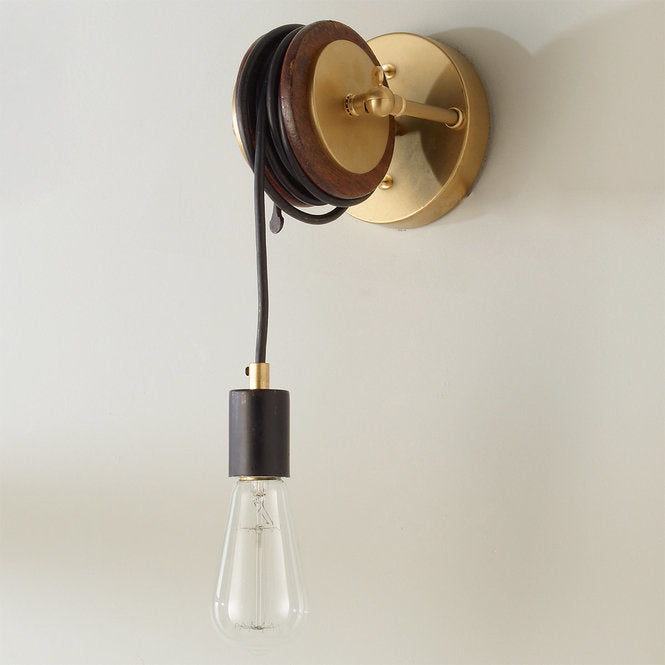 LIBRARY PULLEY SCONCE