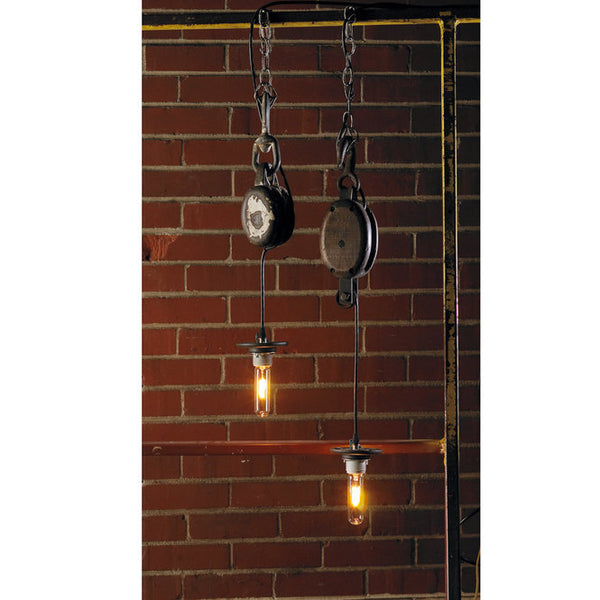SINGLE PULLEY PENDANT LIGHT