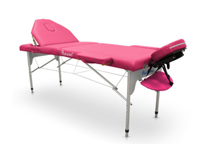 Portable Aluminium Folding Massage Table with Reclining Backrest - Transport Bag Included - Pro Range (186cm x 66cm)