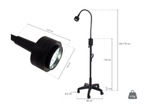 Load image into Gallery viewer, Flexible LED Lamp With Rolling Base