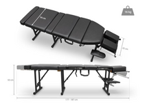 Load image into Gallery viewer, Folding Chiropractic & Reiki Treatment Table (163 X 54 CM) Black