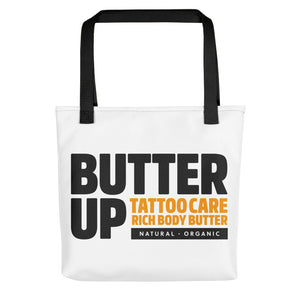 Butter Up Tattoo Care Stacked Logo Tote Bag