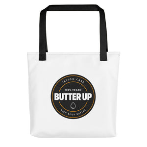 Butter Up Round Logo Tote Bag