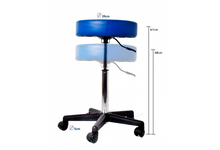 Load image into Gallery viewer, Leatherette Swivel Stool With Wheels