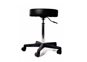 Leatherette Swivel Stool With Wheels
