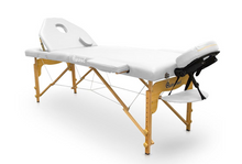 Load image into Gallery viewer, Portable Wood Folding Massage Table with Reclining Backrest - Transport Bag Included - Pro Range (194cm x 70cm)
