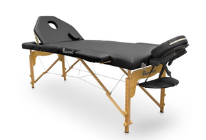 Portable Wood Folding Massage Table with Reclining Backrest - Transport Bag Included - Pro Range (194cm x 70cm)