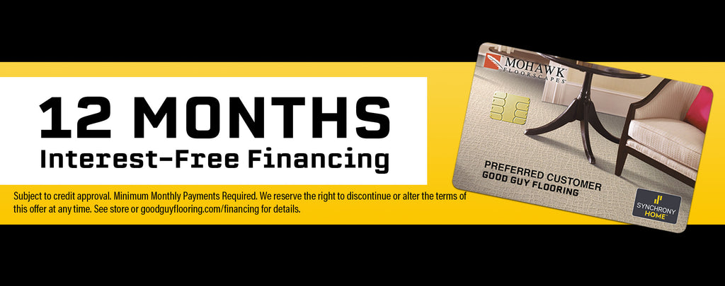 12-Months Interest Free Financing for Flooring and Home Improvements