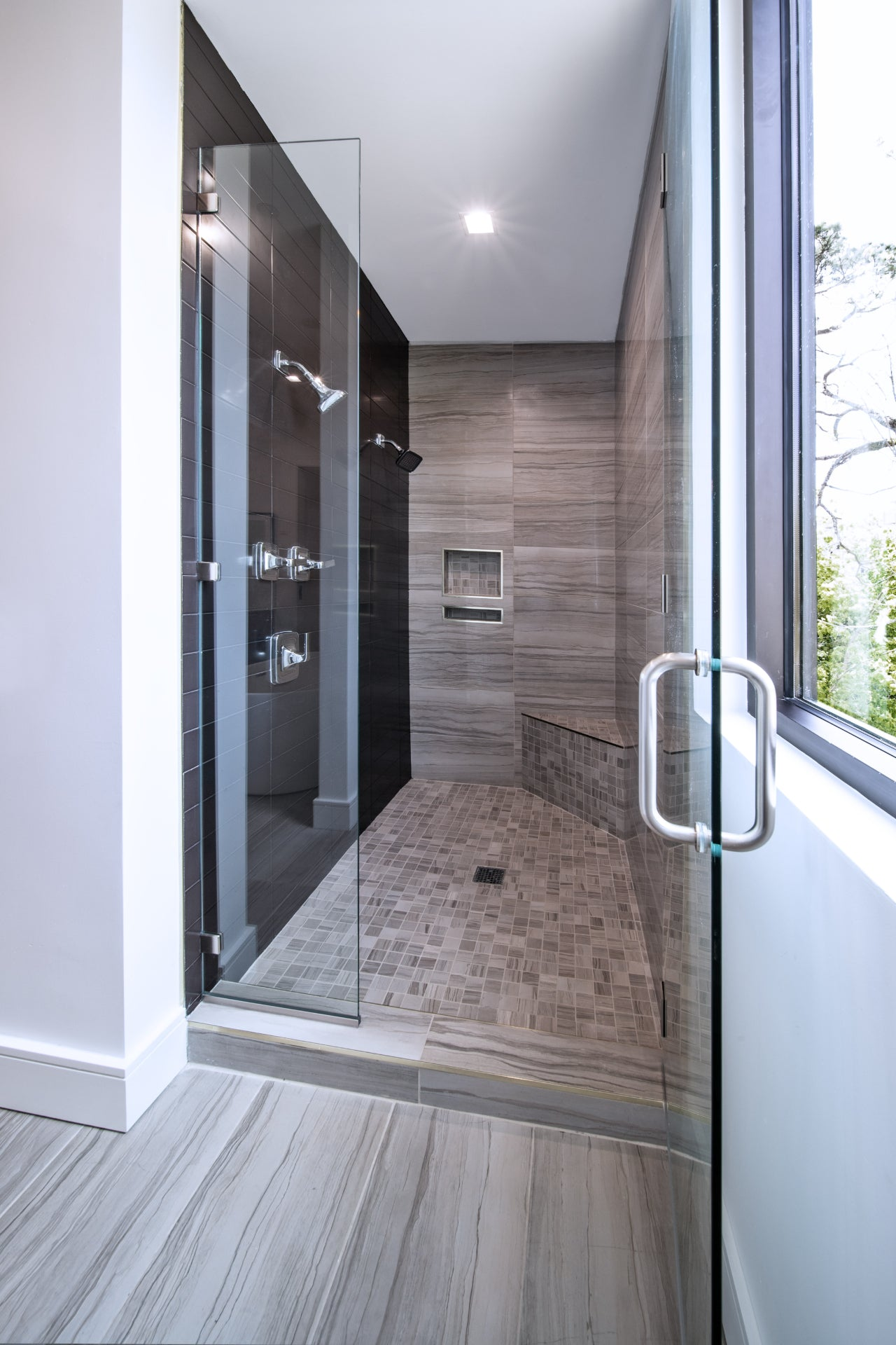 Walk-In Shower with Tile