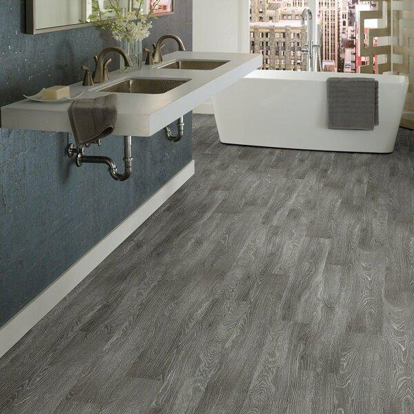 Gray Wood-Look Waterproof Vinyl WPC Flooring in Bathroom