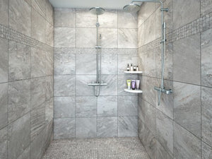 Interceramic Tile - Quartzite - Silver - Polygon Mosaic