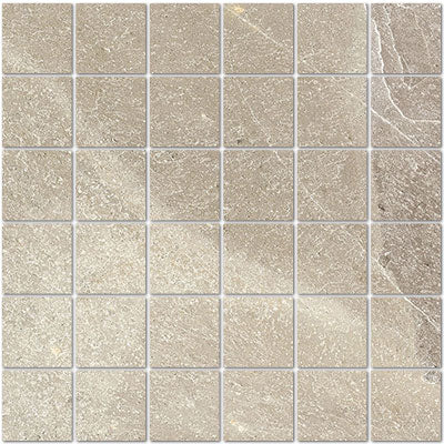 Interceramic Tile - Strata - Bianco - Stacked Mosaic