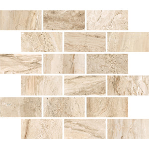 Interceramic Tile - Amalfi Stone - Crema Vasari - Bricklay Mosaic
