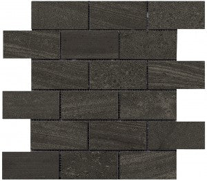 Interceramic Tile - Montpellier - Nero - Bricklay Mosaic