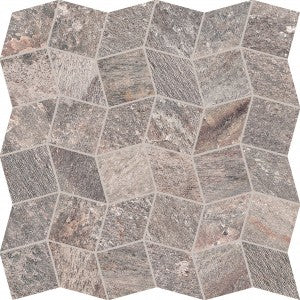 Quartzite - Copper - Polygon Mosaic
