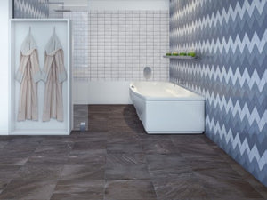 Interceramic Tile - Quartzite - Iron - Polygon Mosaic
