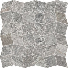 Load image into Gallery viewer, quartzite-silver-polygon-mosaic