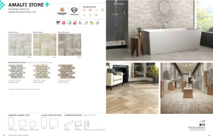 Interceramic Tile - Amalfi Stone - Bianco Scala - 16x16